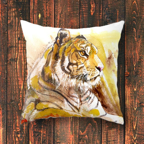 Animal Pillow case travel men african art gift cushion