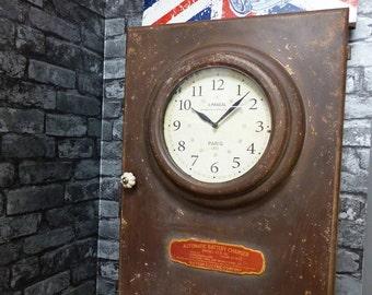 Vintage Clock Cabinet
