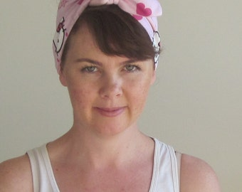 Headscarf \\ vintage \\ hair \\ accessory \\ hello kitty \\ japanese \\ cute \\ head scarf \\ kawaii \\ comic con \\ fairy kei \\ clothing