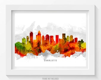 Charlotte North Carolina Poster, Charlotte Cityscape, Charlotte print, Charlotte Decor, Charlotte Art, Home Decor, Gift Idea 15