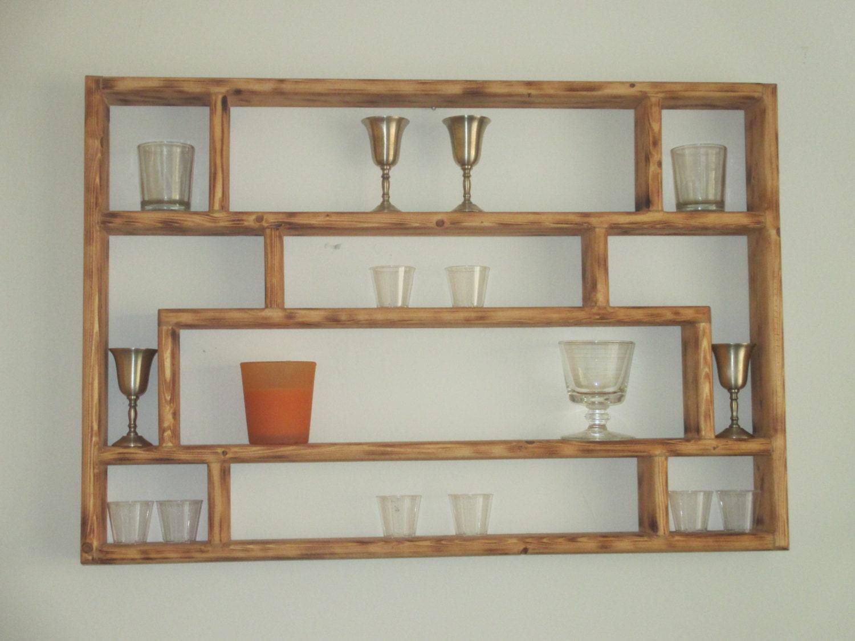 no 9 handmade collectible display shelf antique finish. Black Bedroom Furniture Sets. Home Design Ideas