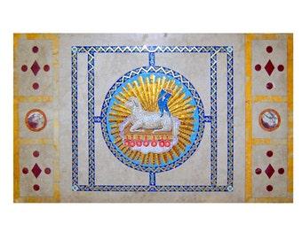 82.4917 Beautiful 3-Piece Tiffany Mosaic c. 1890
