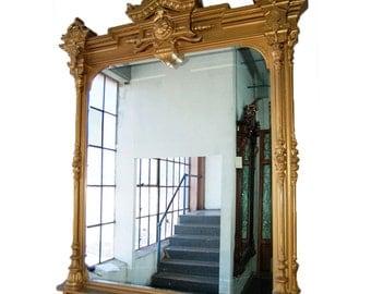1474 Antique Giltwood Mirror