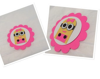 "MINION TAGS, one in a "" minion"" tags, minion party decor, minion party favor tags"