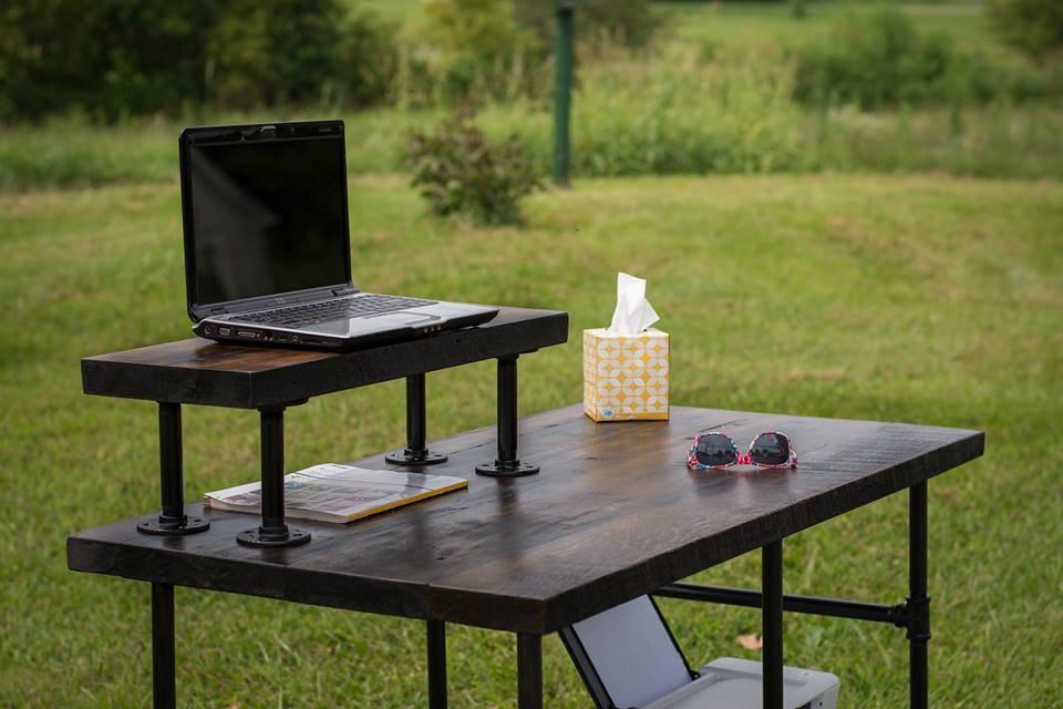 Barn Wood Desk Jarvis Reclaimed Wood Standing Desk 2