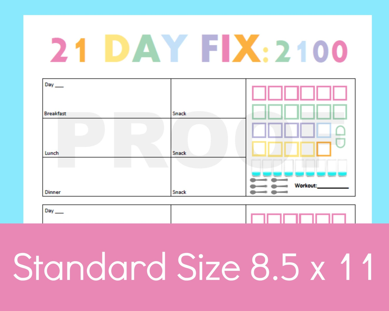 Simplicity image regarding printable 21 day fix