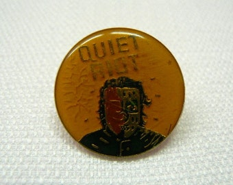 Vintage Early 80s Quiet Riot / Metal Health Album (1983) Enamel Pin / Button / Badge