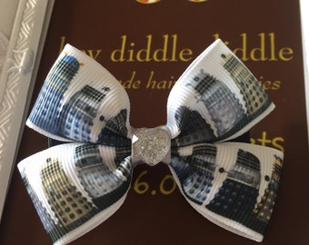 Dr Who Dalek Inspired Double Bow Hair Clip