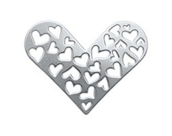 Heart window plate for floating locket