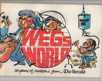 1983 WEG'S WORLD 35 Years of Cartoons From The Herald Vintage Cartoon Book