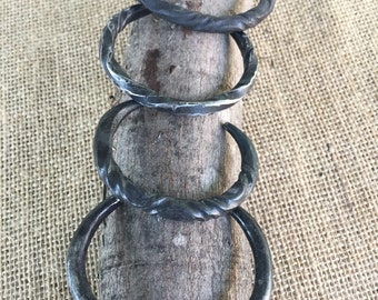 Hand Forged Iron Bangle.