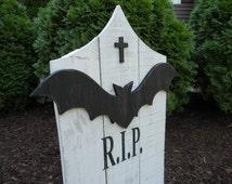 Halloween Tombstone, Halloween Graveyard, Cemetery, Headstone, Halloween Yard Decor, Tombstone,Outdoor Yard Art, R.I.P Tombstone, RIP, R.I.P