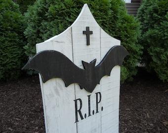 Ready To Ship! Halloween Tombstone, Halloween Graveyard, Headstone, Halloween Yard Decor, Tombstone,Outdoor Yard Art, R.I.P Tombstone, RIP