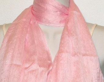 Womens Pink Scarf