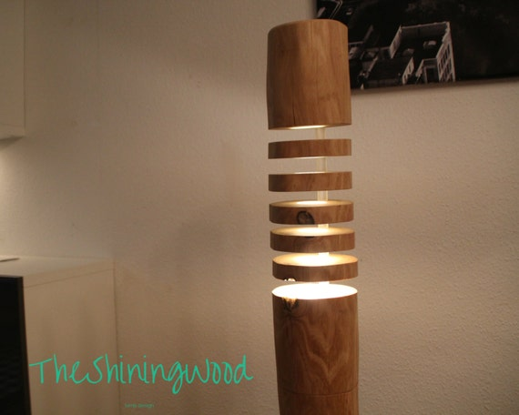 handmade hard wooden floor lamp stehlampe aus massivholz. Black Bedroom Furniture Sets. Home Design Ideas