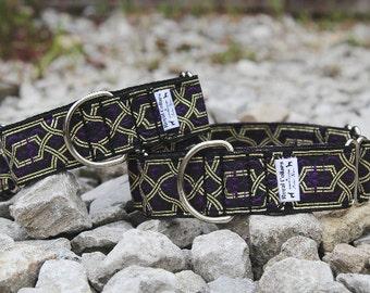 "1 1/2"" Martingale Collar, Purple, Blue, Black Martingale dog collar"