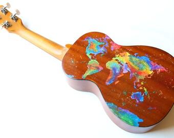 Custom order Ukulele--Any design you can think of, hand painted onto a fully playable soprano ukulele!