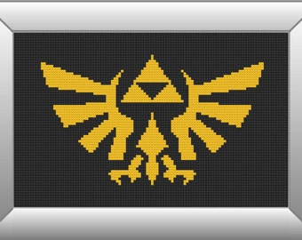 Legend of Zelda TriForce - Counted Cross Stitch Pattern (Easy)