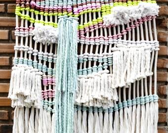 Macrame, Contemporany Macrame wallhanging modern macrame weaving tapestry