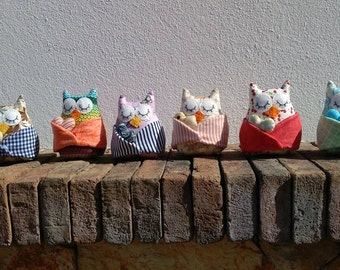 Mini owls - heart keepers
