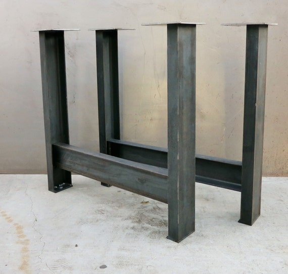 Metal Table Legs (set of 2) C channel c4x5.4