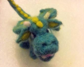 Needle felted dragon, cute dragon plush miniature soft animal