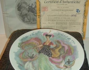 Albertine the Sinuous Woman of Paul Poiret, 1910 Limoges Women of the Century Plate w/foam box & COA