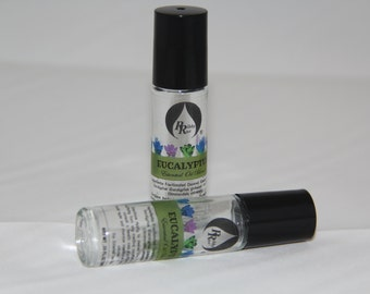 Eucalyptus Essential Oil Blend Roll-On for Aromatherapy on the Go Roll-On 10ml (.33 oz)
