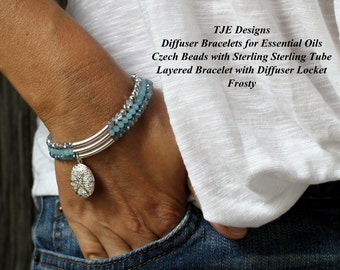 Frosty Layered Diffuser Bracelet