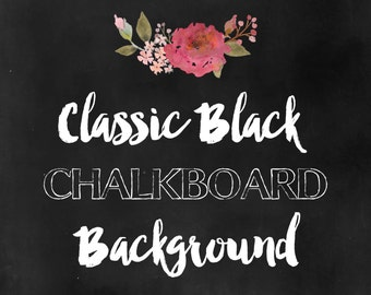 Classic Black Chalkboard Background - perfect for printables, digital scrapbooking, and design projects!