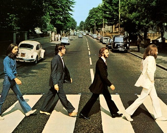 Beatles Abbey Road Poster Rock & Roll Music Band 24x35'