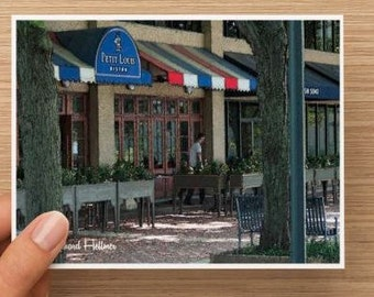 Notecards. French bistro watercolor.  Pack of 10, 20, or 30