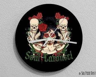 Soul Sugar Skull - Day of the Dead -Dia de Los Muertos - Wall Clock