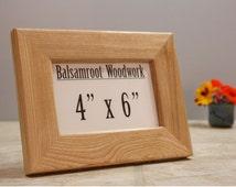 4x6 ash frame, wood frame, basic frame, photo frame, wedding gift frame, farmhouse style, classic frame, country home frame, table frame