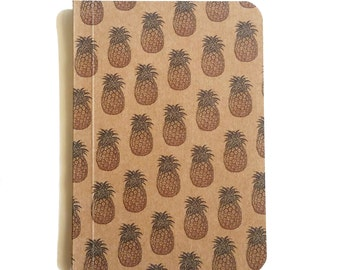 Pineapple Notebook, Pattern Notebook, Pocket Journal, Original Handmade Mini Diary and Jotter, Blank Paper Notebook