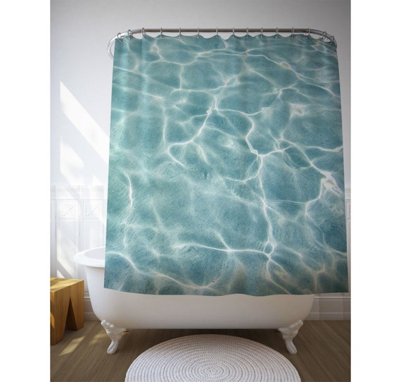 Swimming pool curtain abstract shower art water texture Swimming pool shower curtain