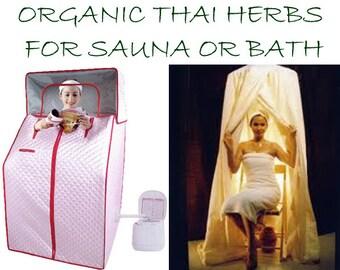 Thai Herbal Steam Bath with 15 Famous Thai Herbs 9 oz (255g) for Herbal Bath/Spa/Sauna, Relaxation Refreshment Rejuvenile