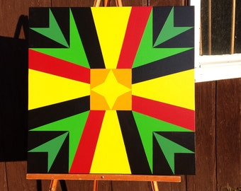 2' x 2' Barn quilt - Bold colors!