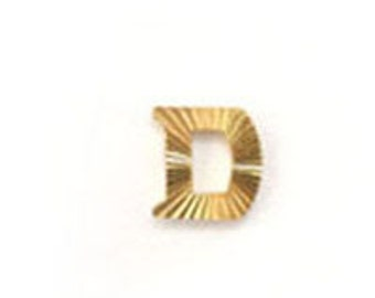 Metal Alphabet Letter D  (12pcs)