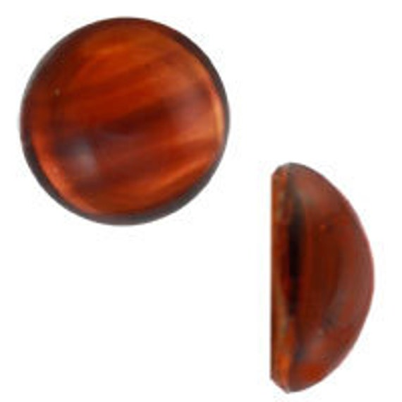 9mm German Glass Cabochon - Tortoise (72pcs)