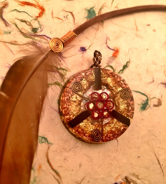 Electromagnetic Radiation Protection Necklace: Radiation Protection Orgone Pendant Healing Orgone Necklace