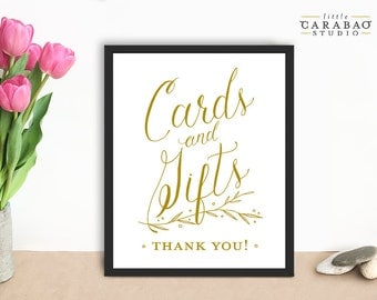 Wedding Sign Cards & Gifts Sign PRINTABLE Cards and Gifts Signage DIGITAL Wedding Sign - Little Carabao Studio - #PC111