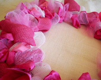 Custom Breast Cancer Awareness Wreath