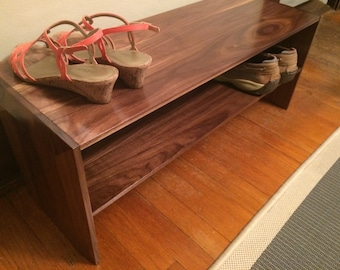 Solid Wood Shoe Rack-Shoe Shelf