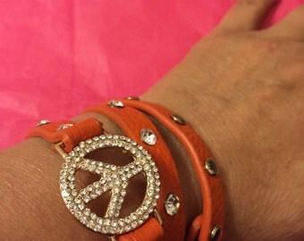 Bracelet peace and love