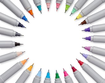 Color Sharpie Markers; Precision Ultra-Fine-Point Permanent Markers, 24 Pack Coloring Markers; Drawing, Anime, Manga, Sharpie Arts Crafts