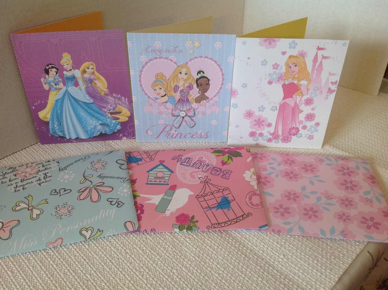Disney Princess Card Set blank inside Snow White