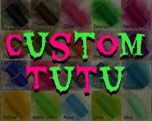 "Custom 8"" Tutu - Any Colors Any Size - Custom Tutu - Adult Tutu - Teen Tutu - Kids Tutu - Neon Tutu - Glow Tutu -Halloween Costume -Cosplay"