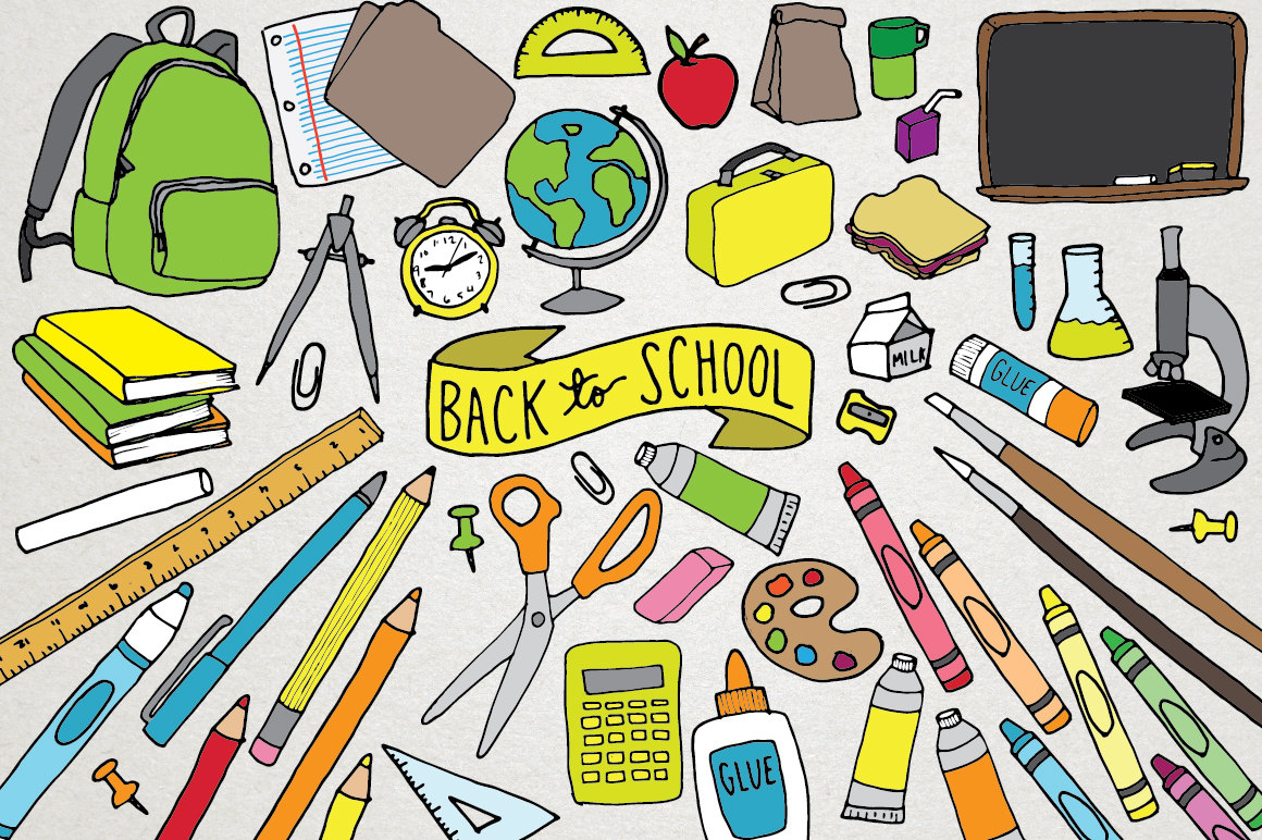 Back To School Clipart School Supplies Clipart Backpack