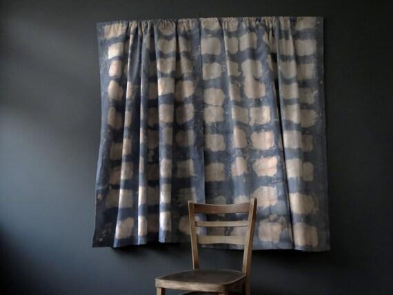 Denim Blue Brick Sailcloth Curtains 2 Panel Urban Bluestone Cafe ...